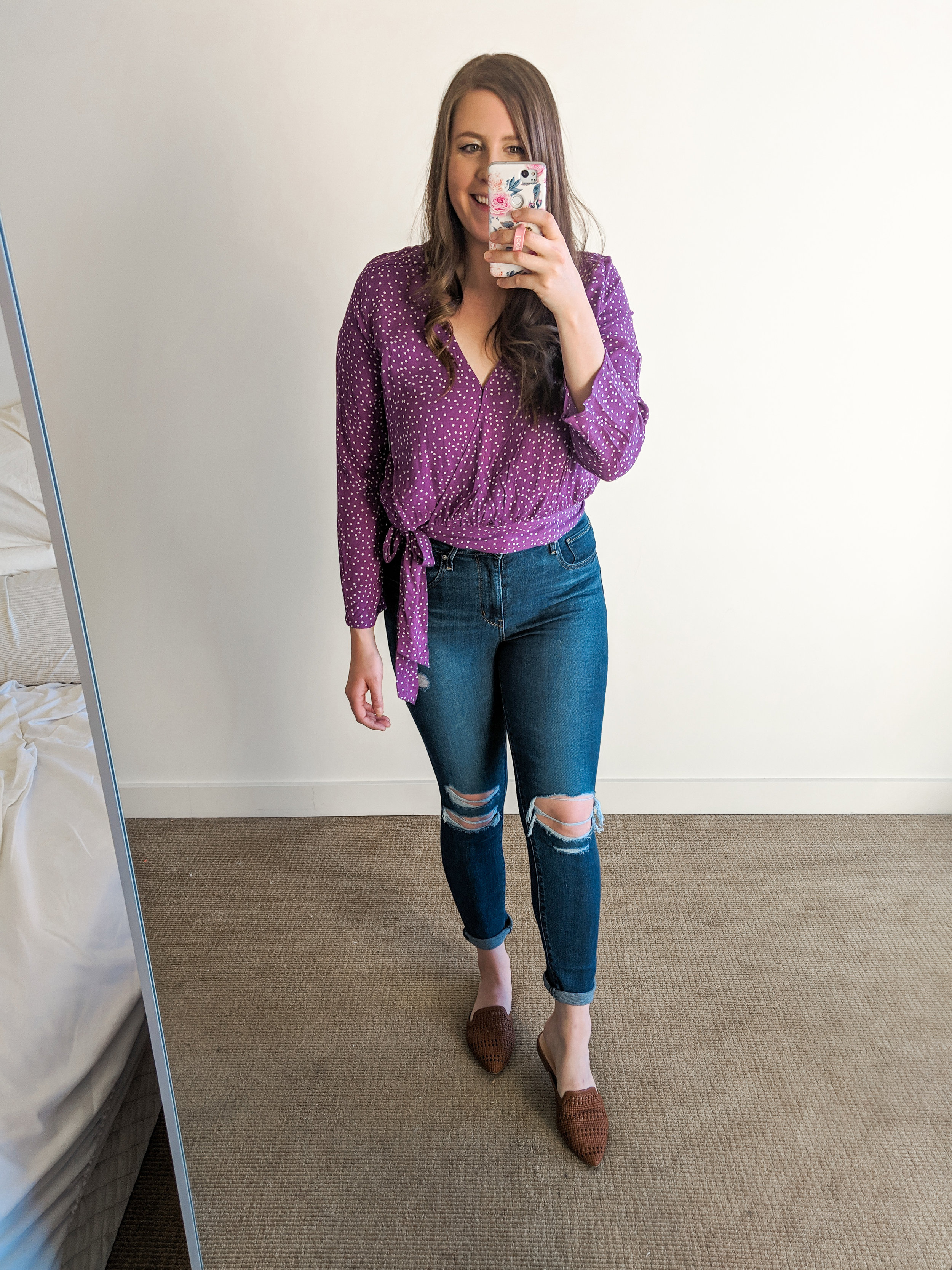 Purple Polka Dot Tie Top Nordstrom BP