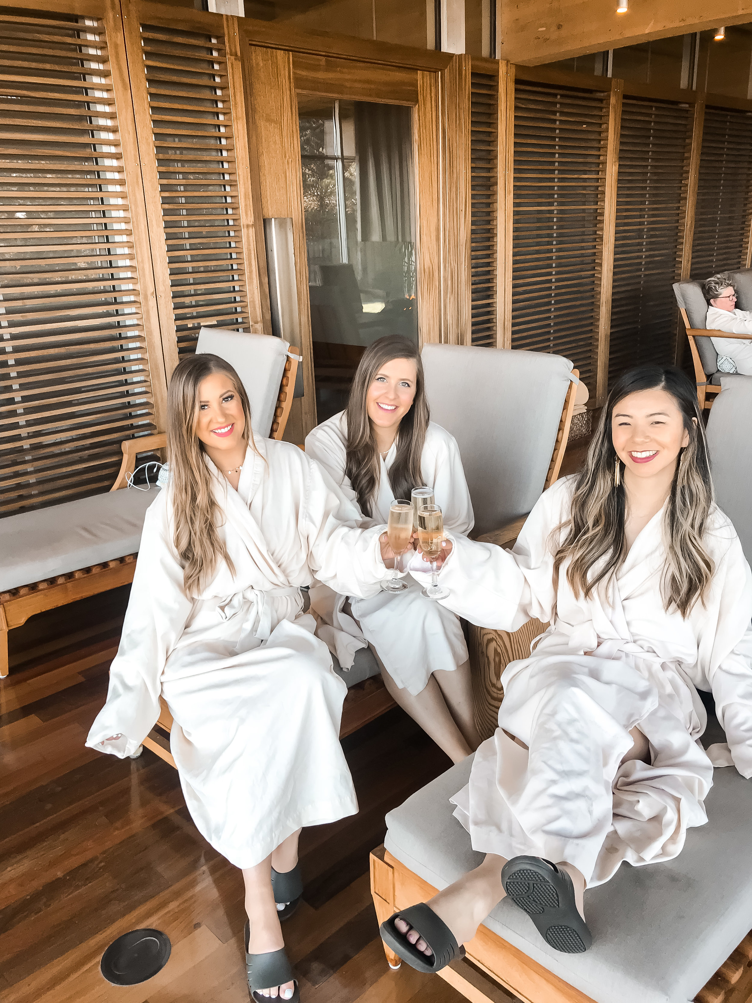 Salishan Blogger Besties at the Spa