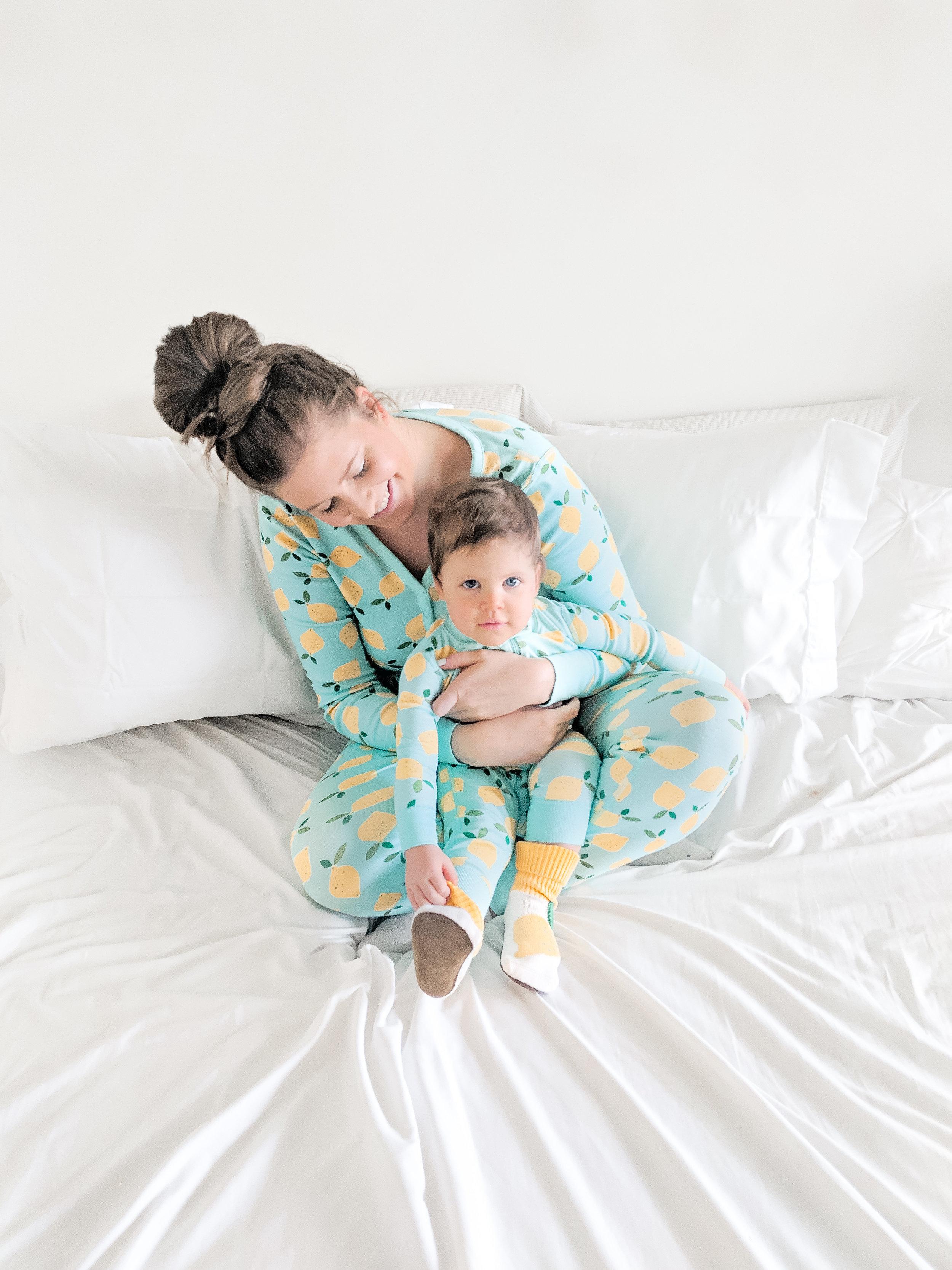 Hanna andersson lemon pajamas