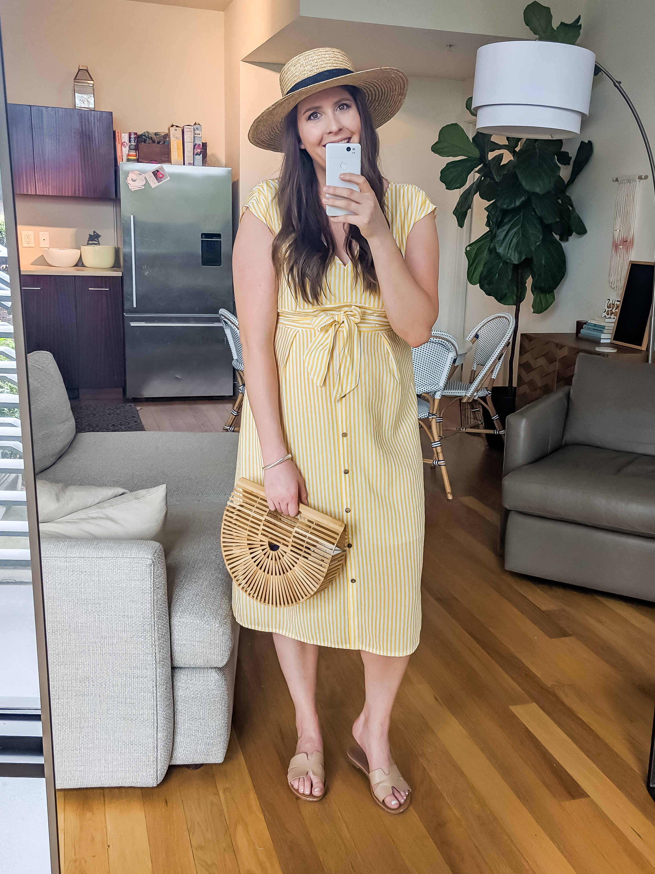 Amazon Yellow Striped Dress