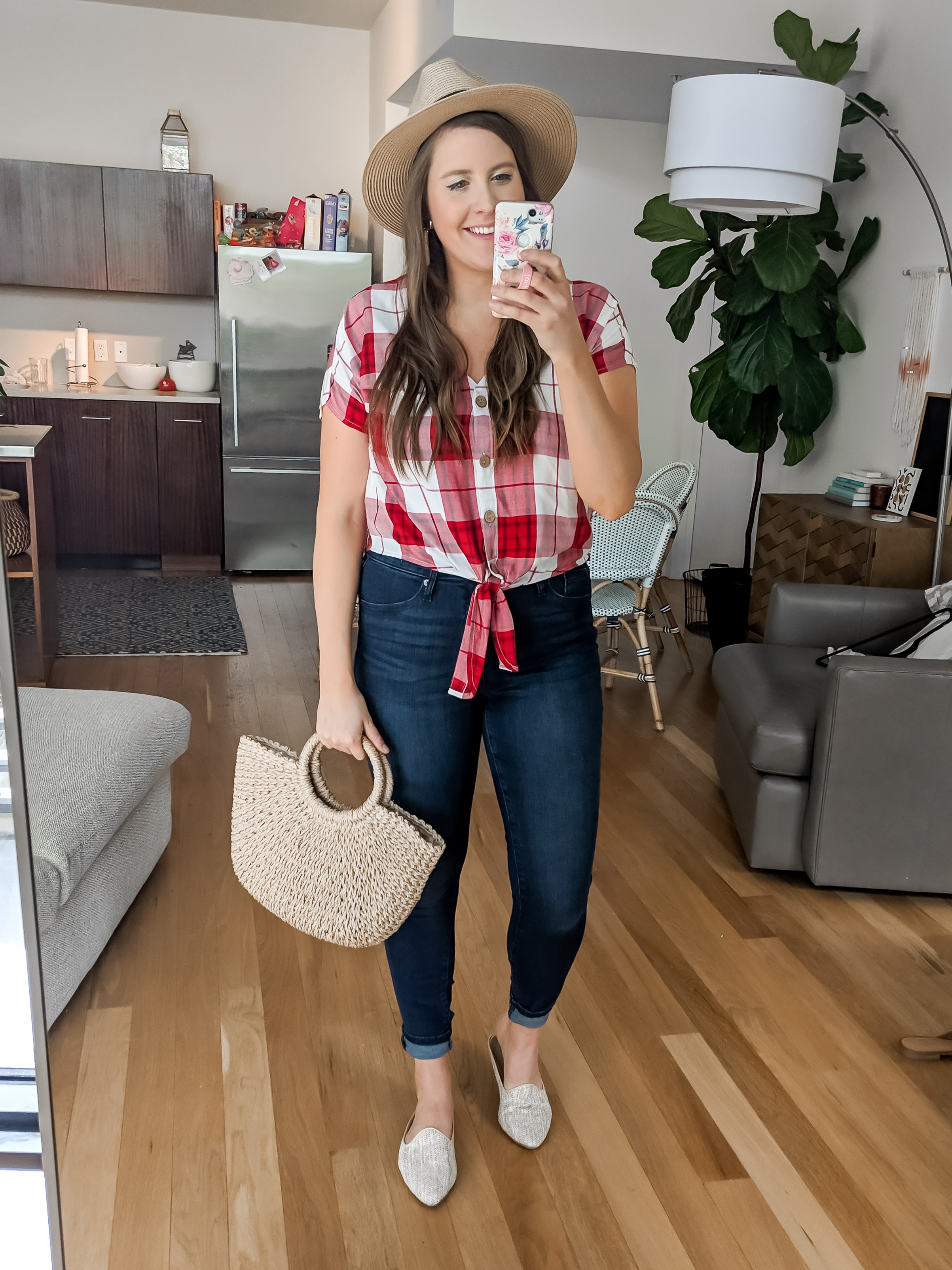 Target Spring Try On Haul - Red Plaid Shirt