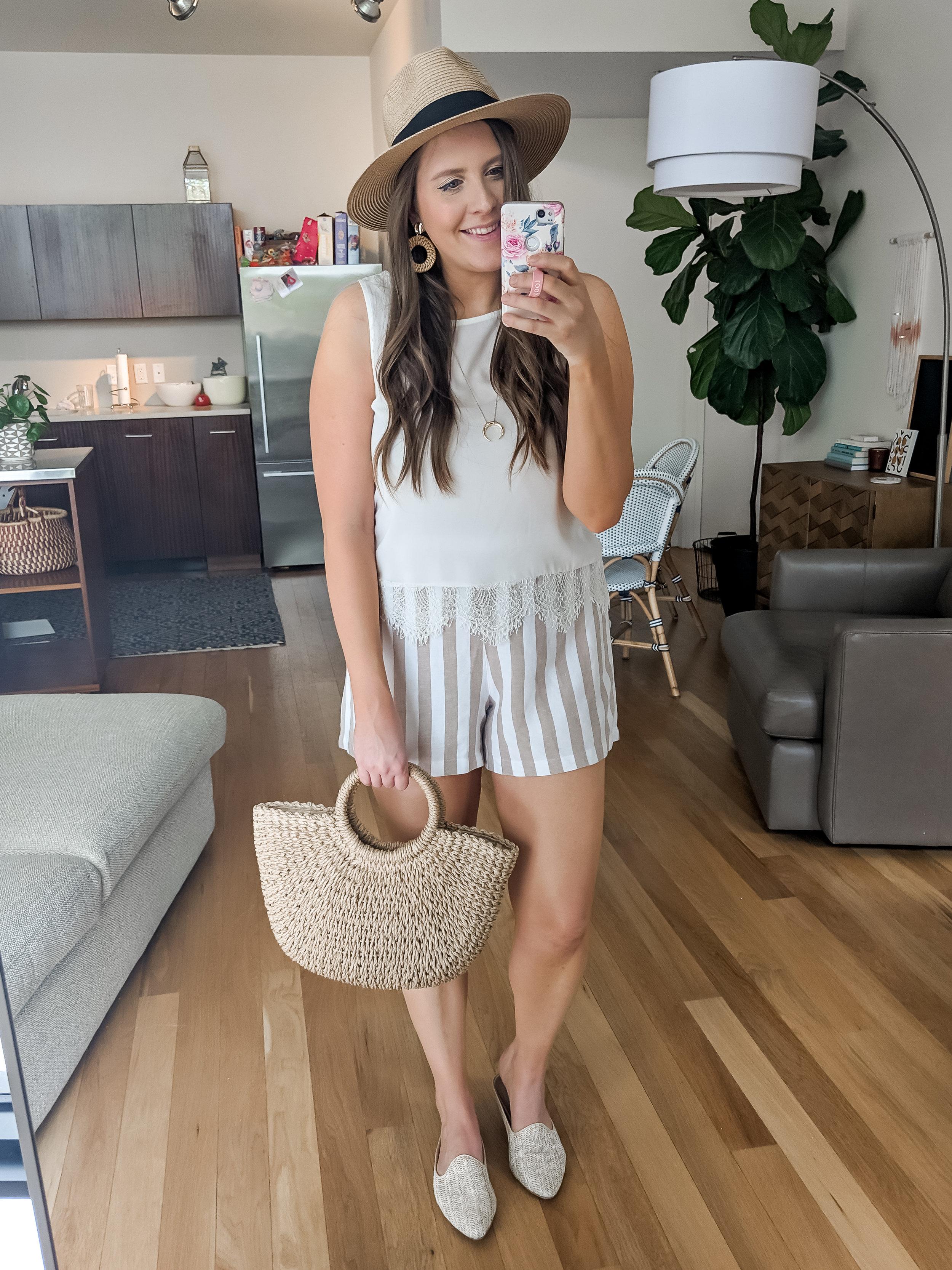 Target Striped Blazer and Shorts Matching Set