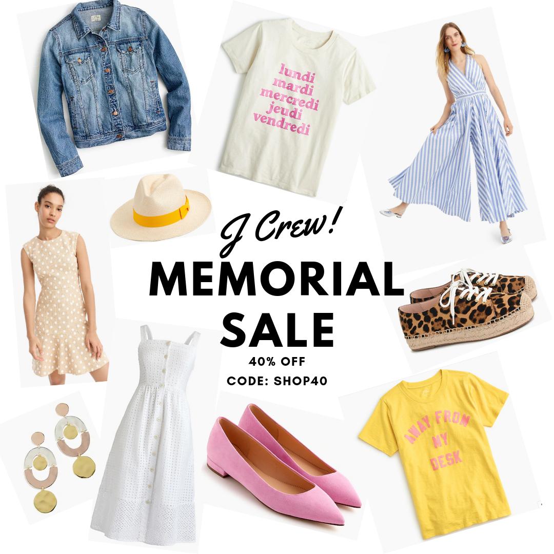 J Crew Memorial Sale