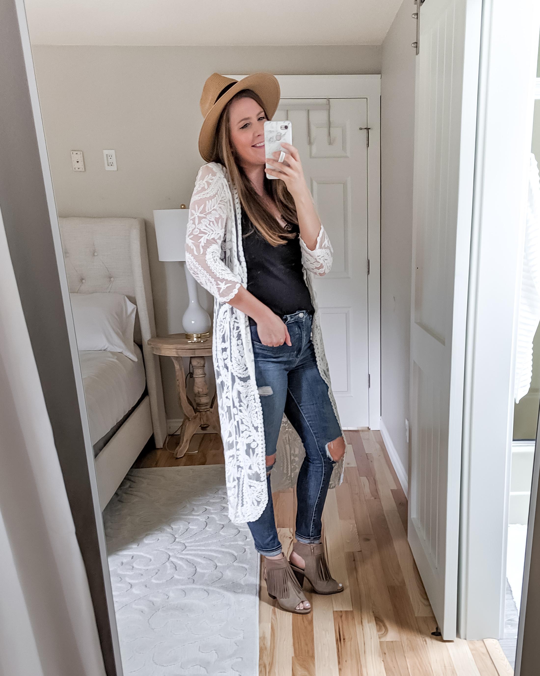 Shein Lace Kimono