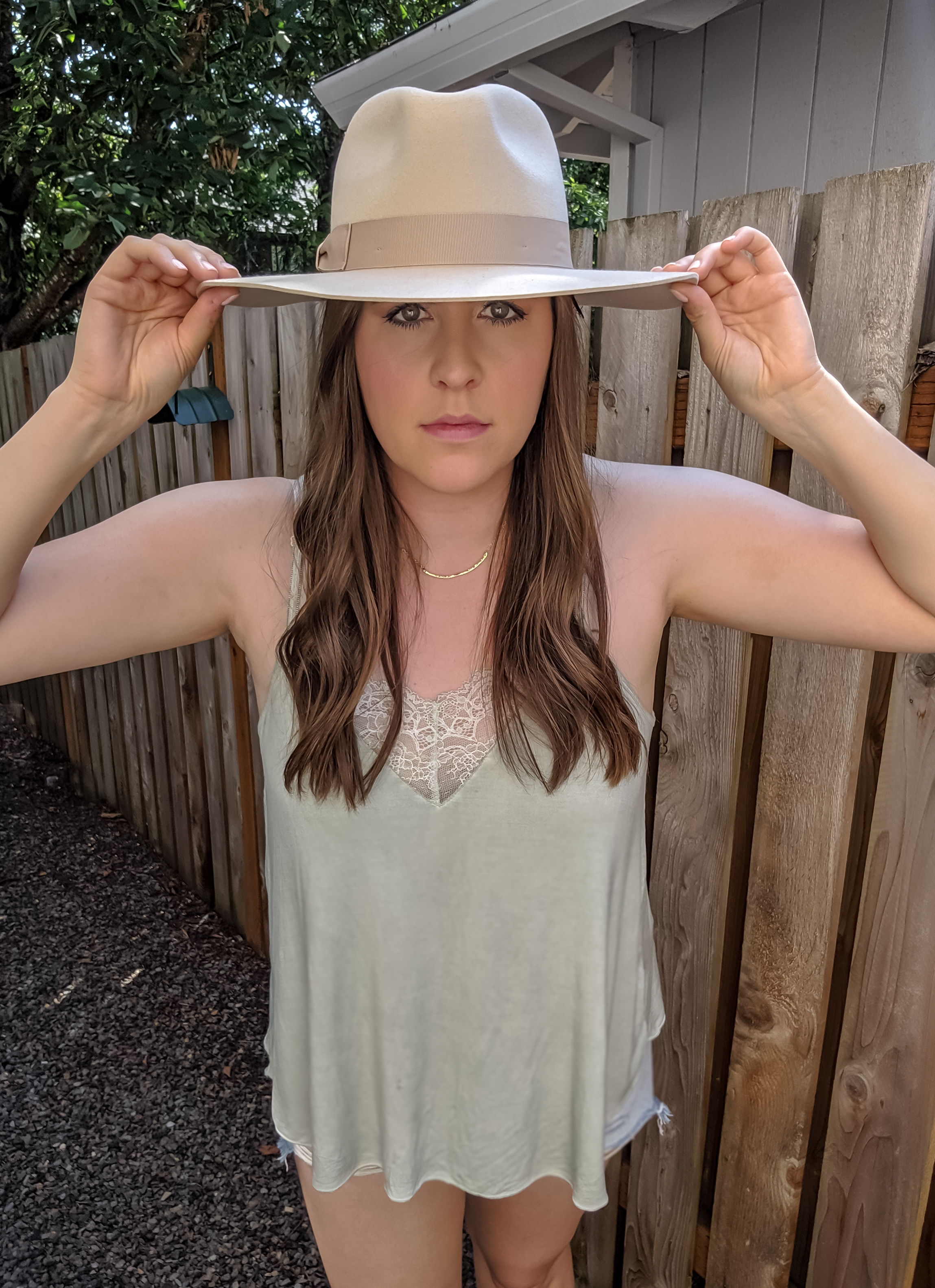 Tan Hat Summer Outfit