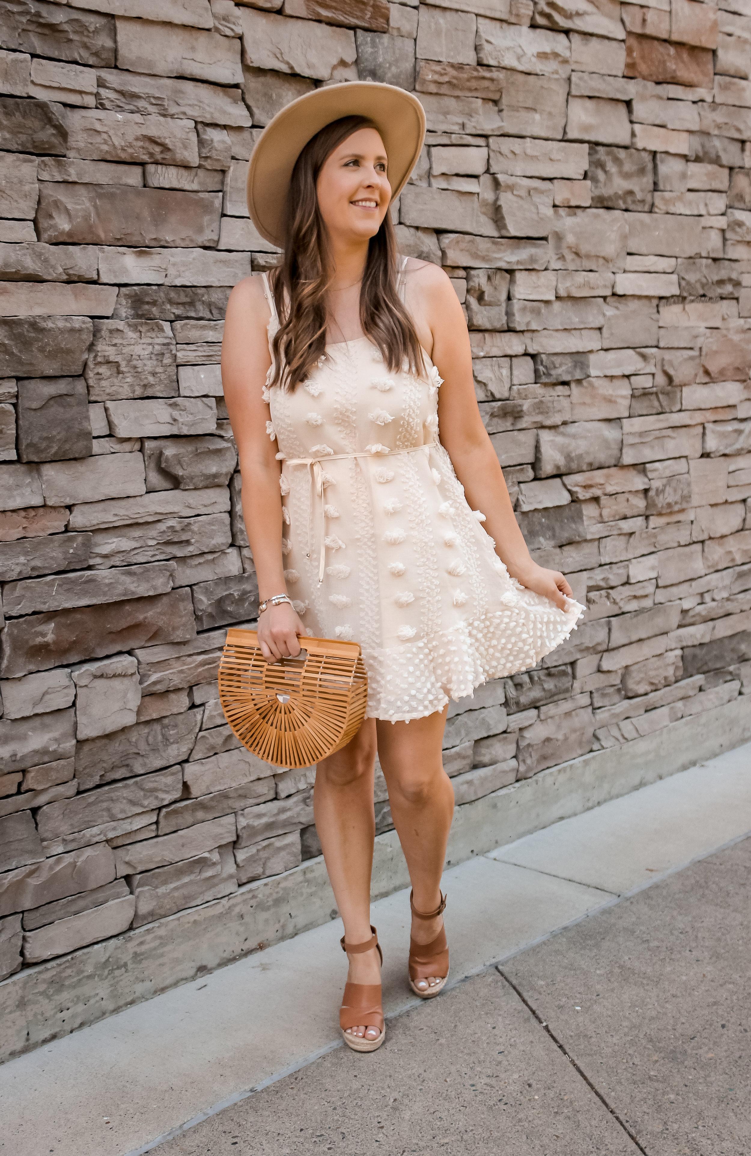 Cream Colored Event Dress