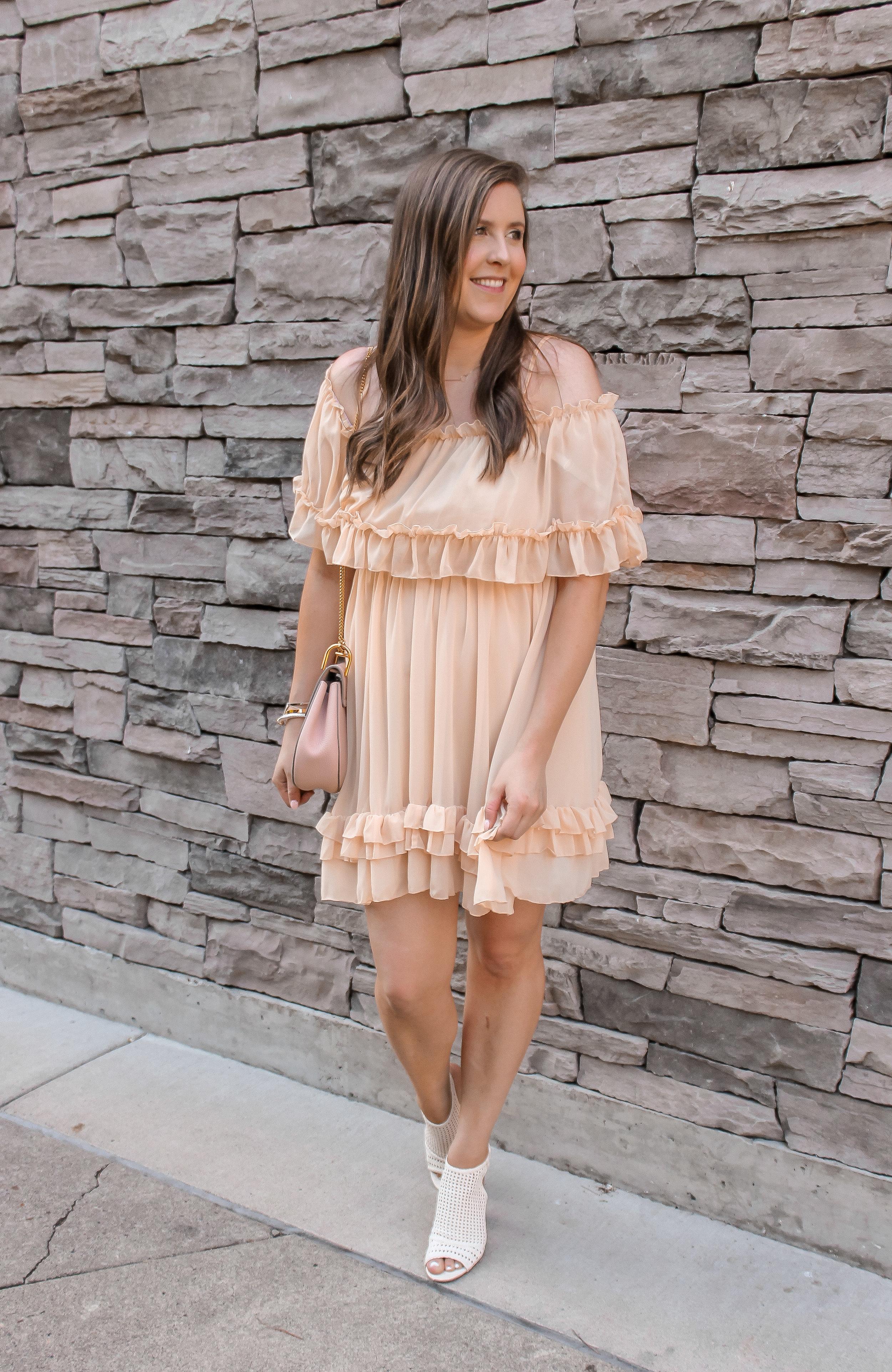 Blush Tiered Ruffle Dress