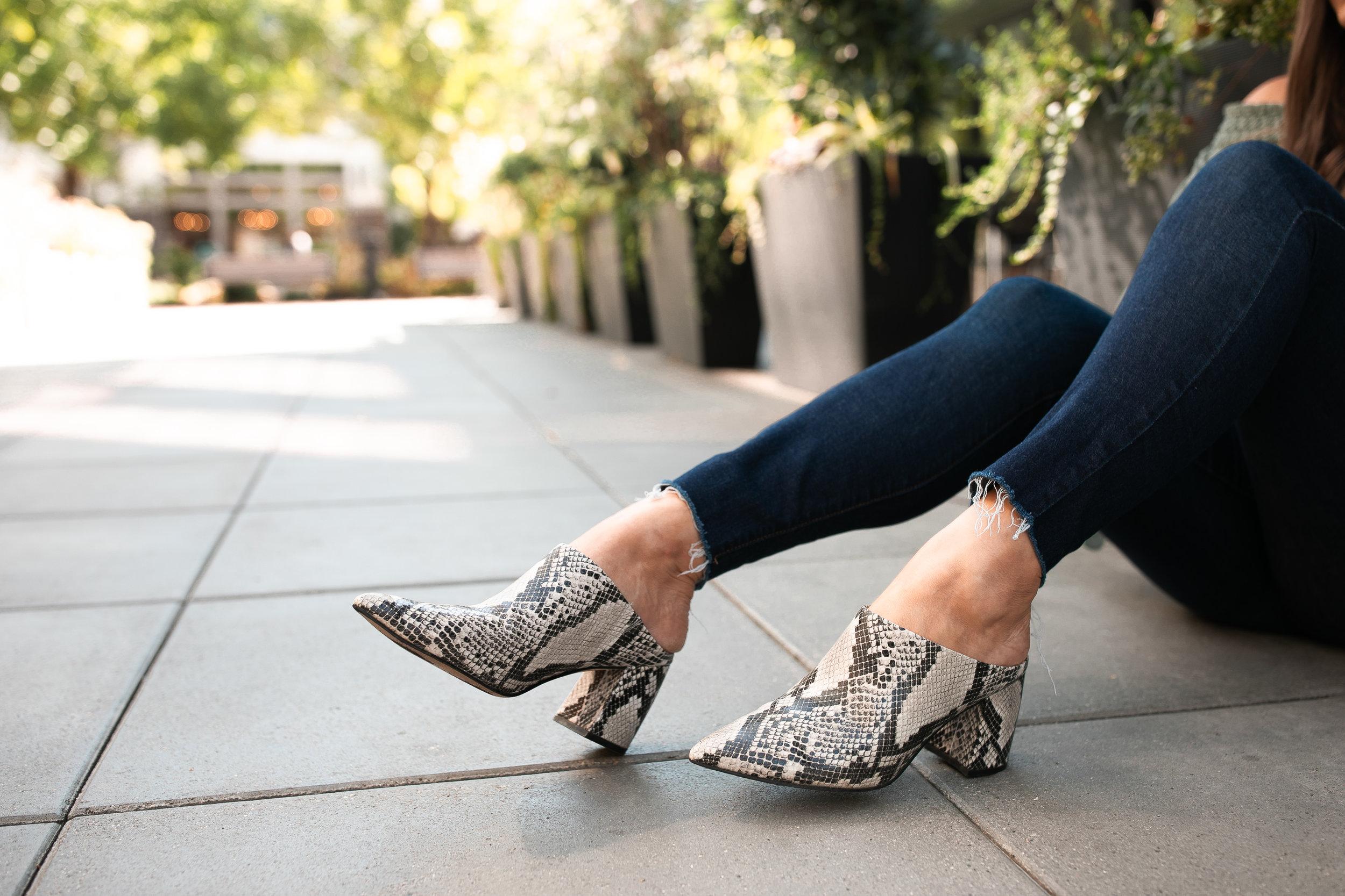 Snake Skin Booties for Fall @stylebyjulianne