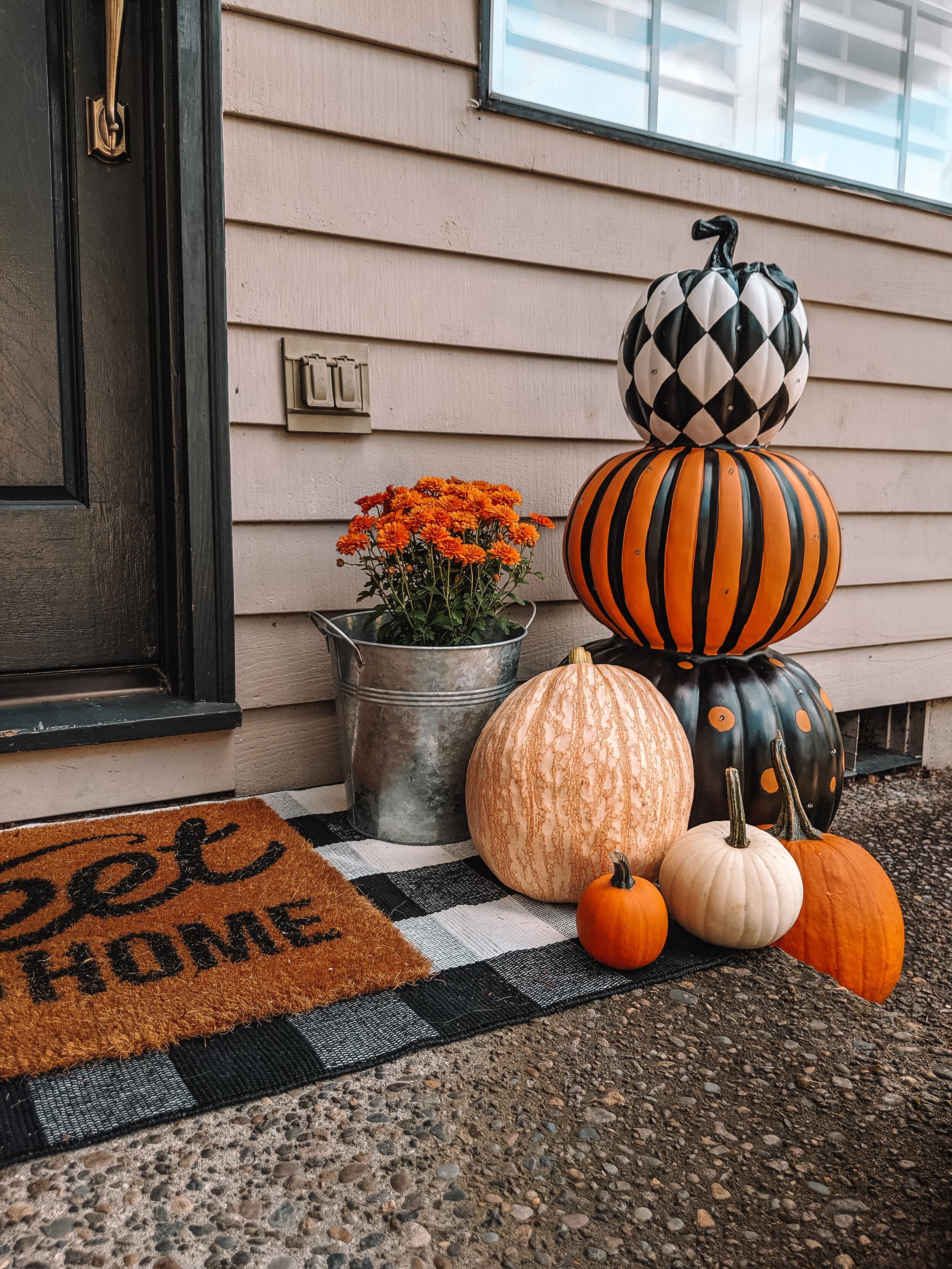 Halloween Front Porch Decor DIY