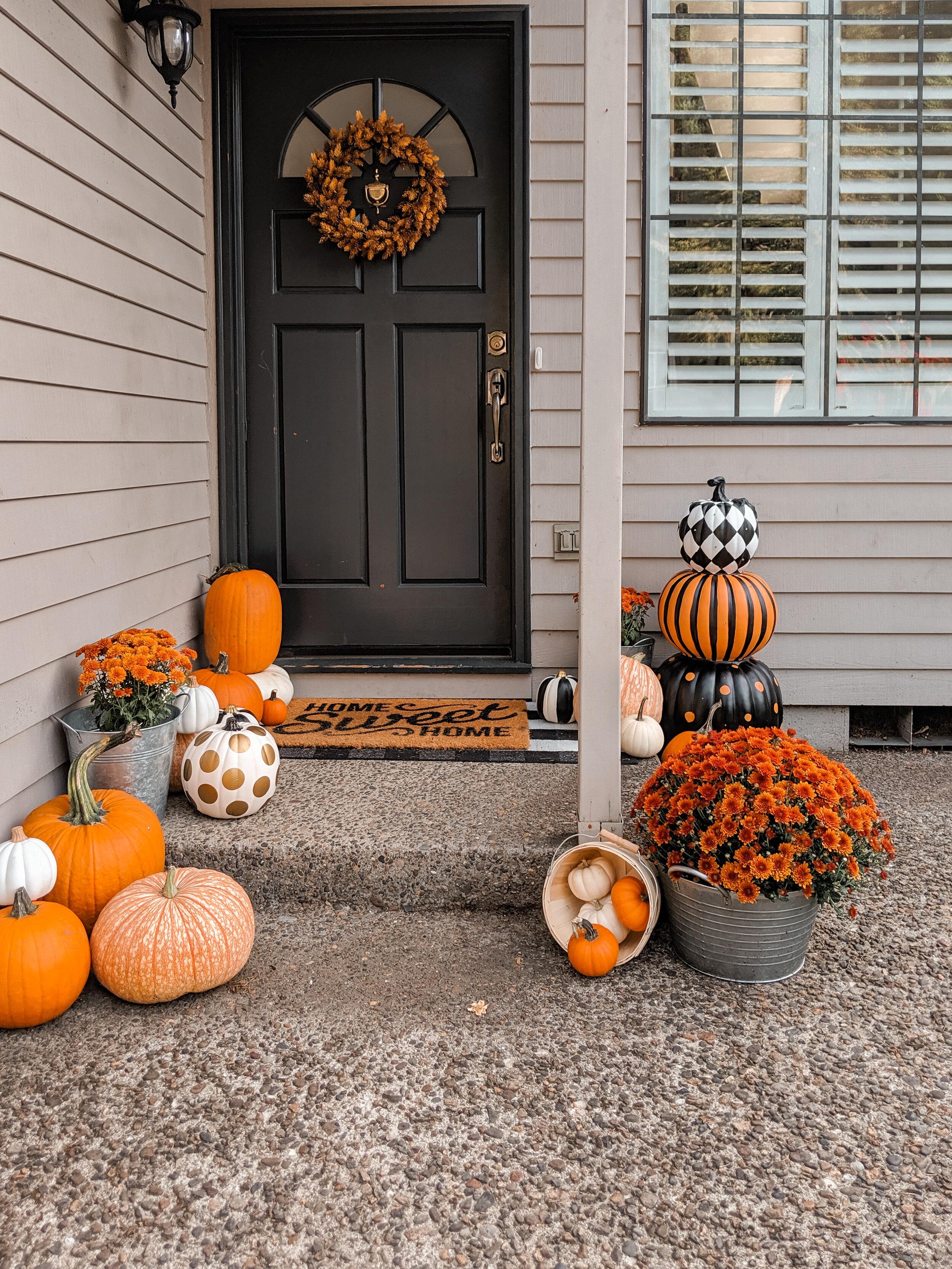 Fall Front Door - Wreath