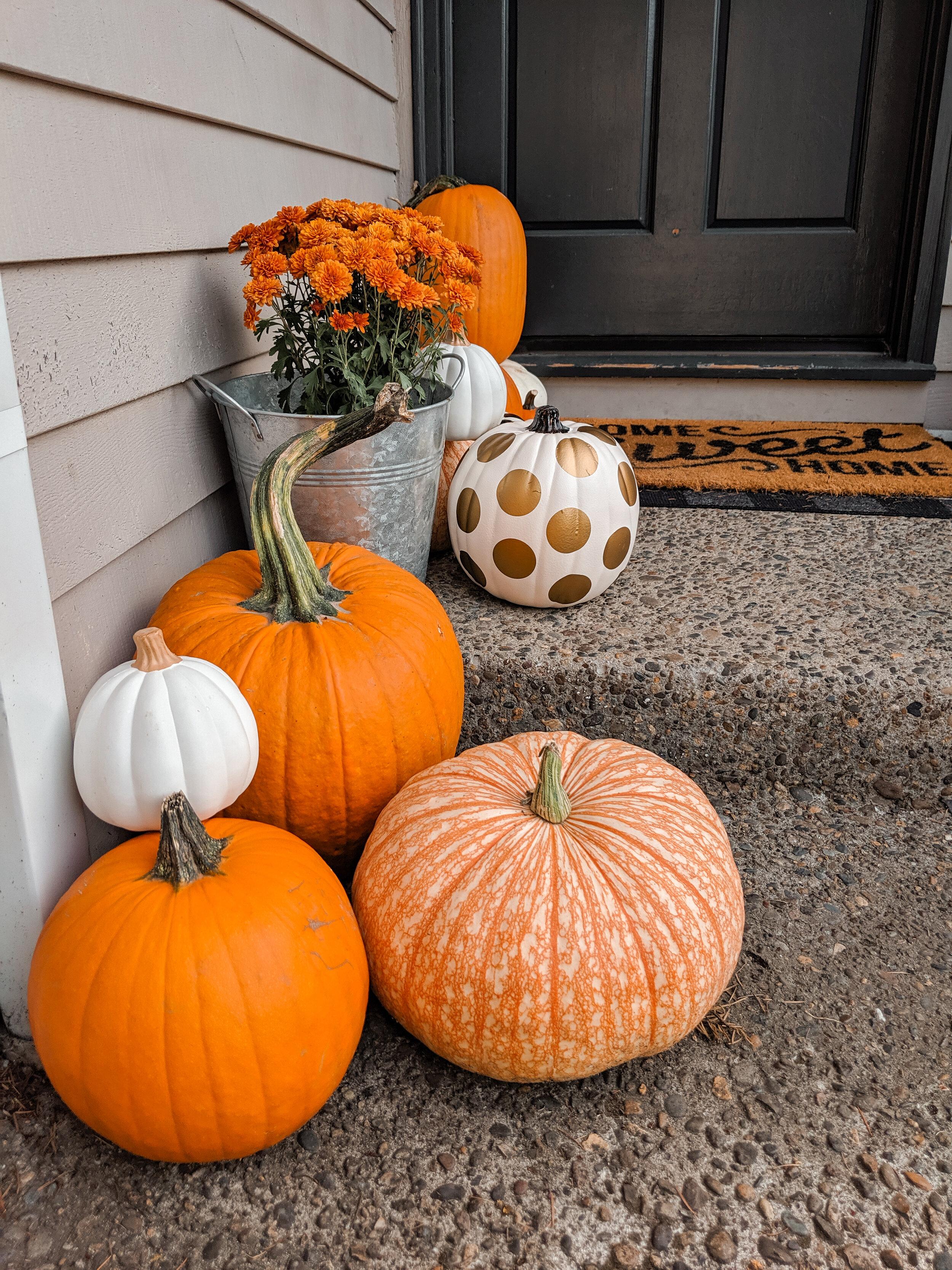 Fall Front Door Decorations for Halloween