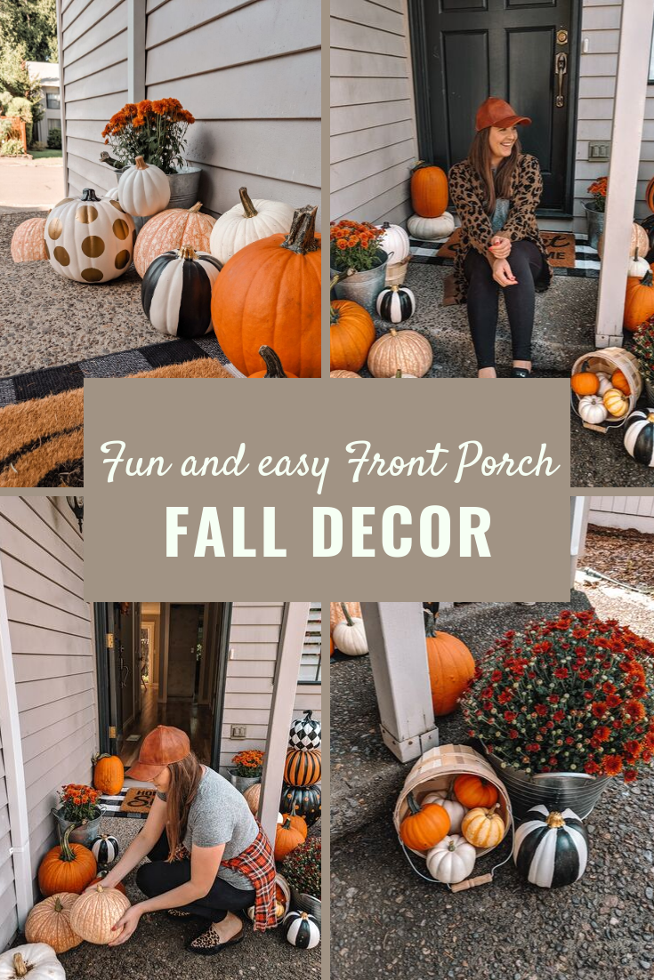Front Porch Decor For Fall and Halloween!