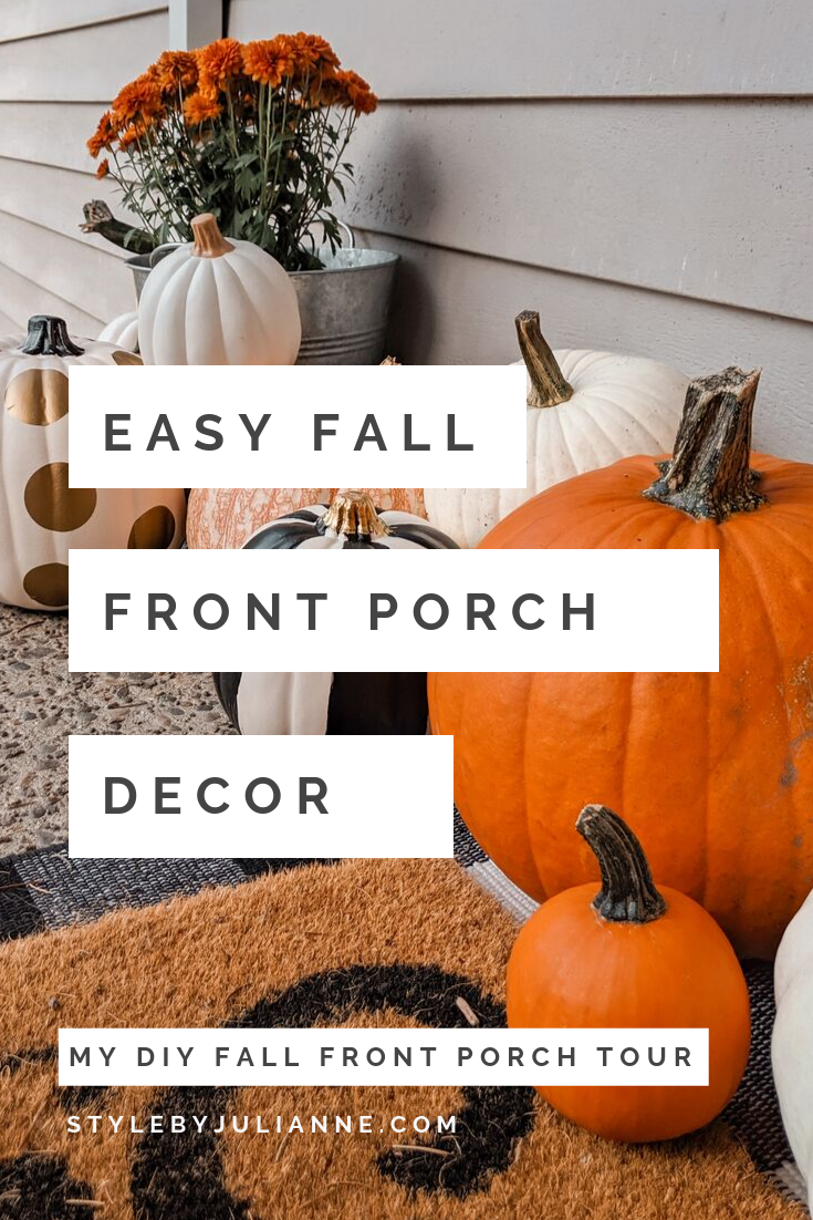 Festive Easy Front Porch Decor For Fall!