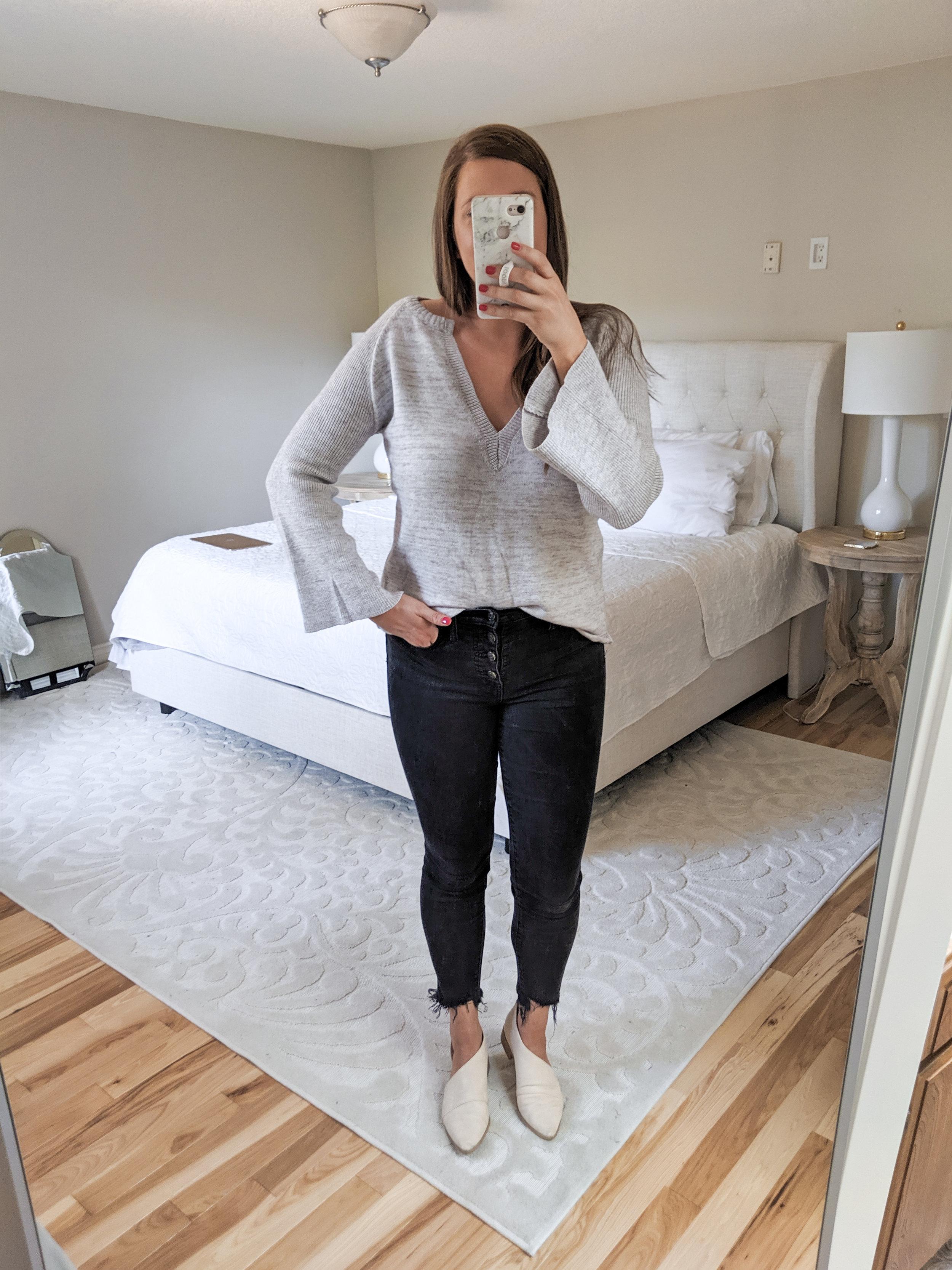 Grey Sweater - Fall Amazon Haul