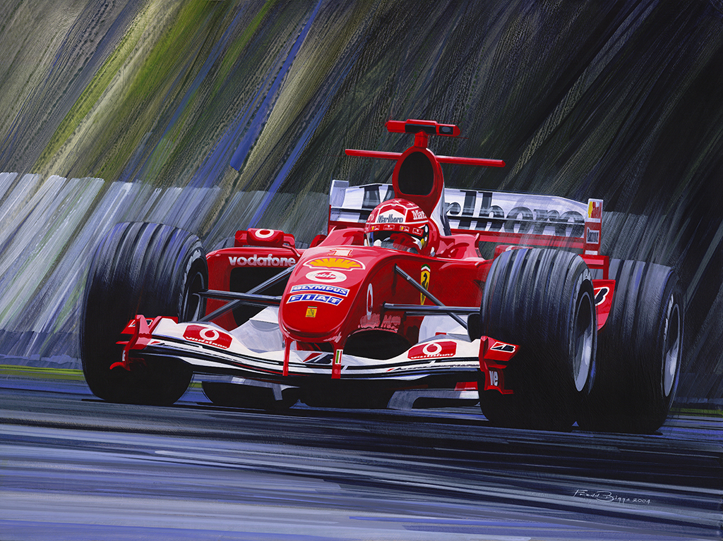 Original Painting - Michael Schumacher