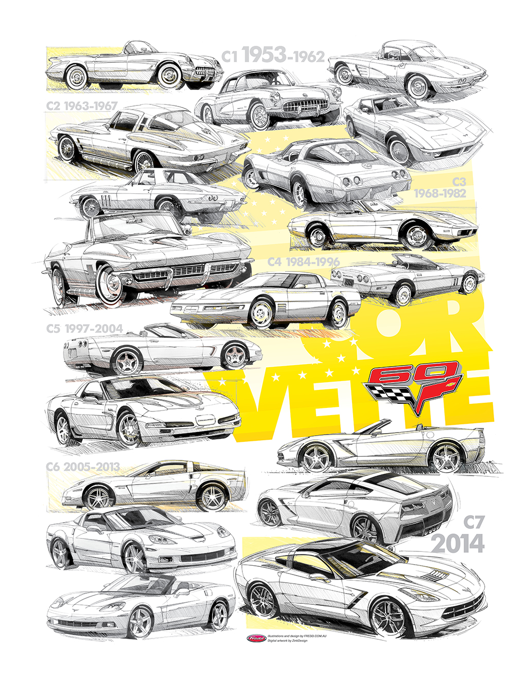 Corvette Wall Art