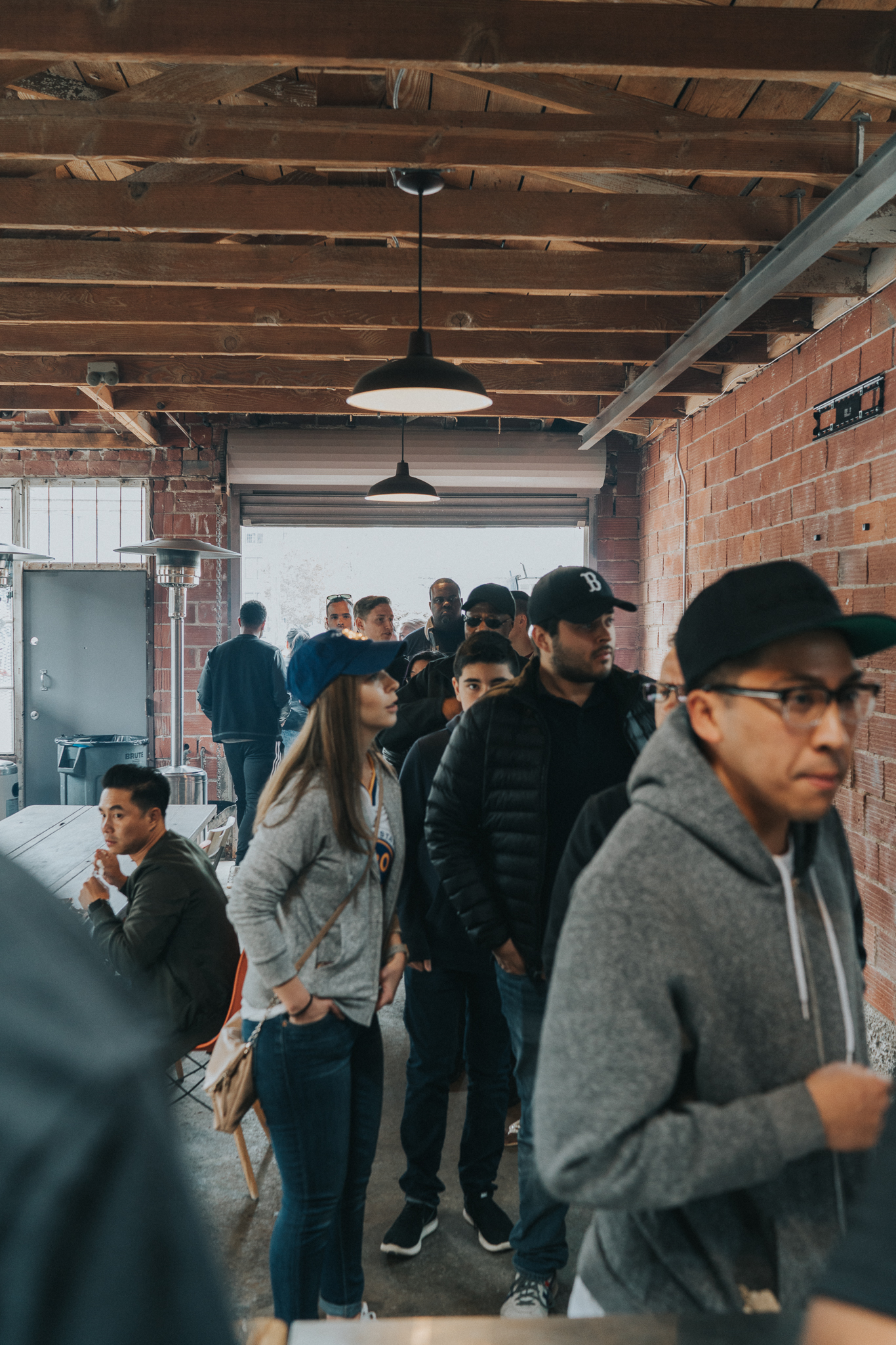 A sense of the never-ending line at Horn BBQ's pop-ups