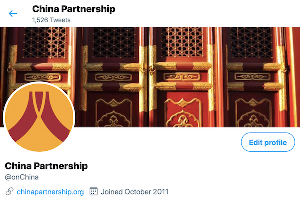 Follow Us on Twitter - Bringing the voice of the Chinese church to the world. The China Partnership Blog includes interviews with Chinese Christians, translations of articles and sermons, cultural analysis, and updates.