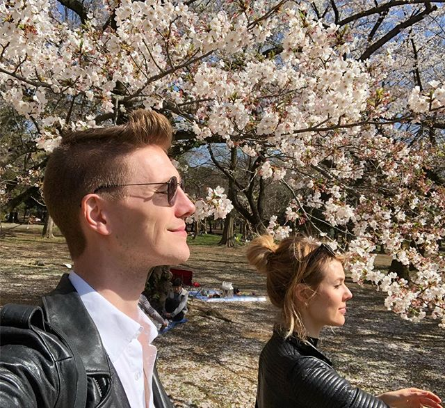 Couple in Bloom. . #sakura #hanami #weirdos