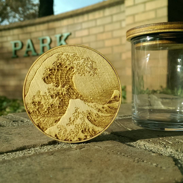 Great Wave Painting Jar