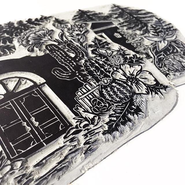 Prickly Poppy kind of day. #printmaking