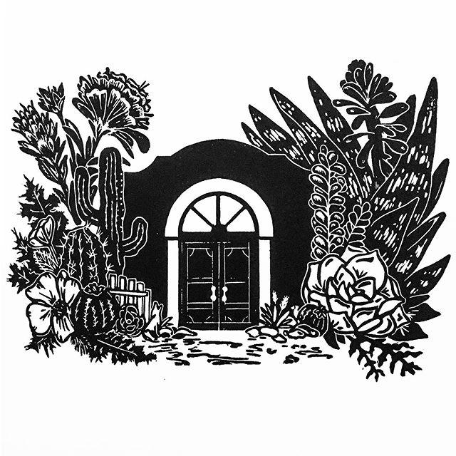 Home Sweet Home 🌵#printmaking
