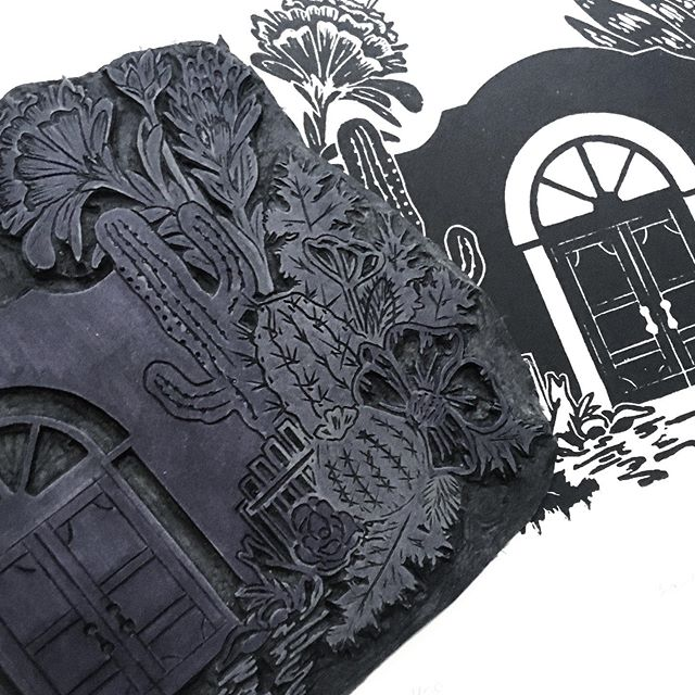 Tiny House Hunters—Printmaking Edition 🏡 #printmaking #botanical