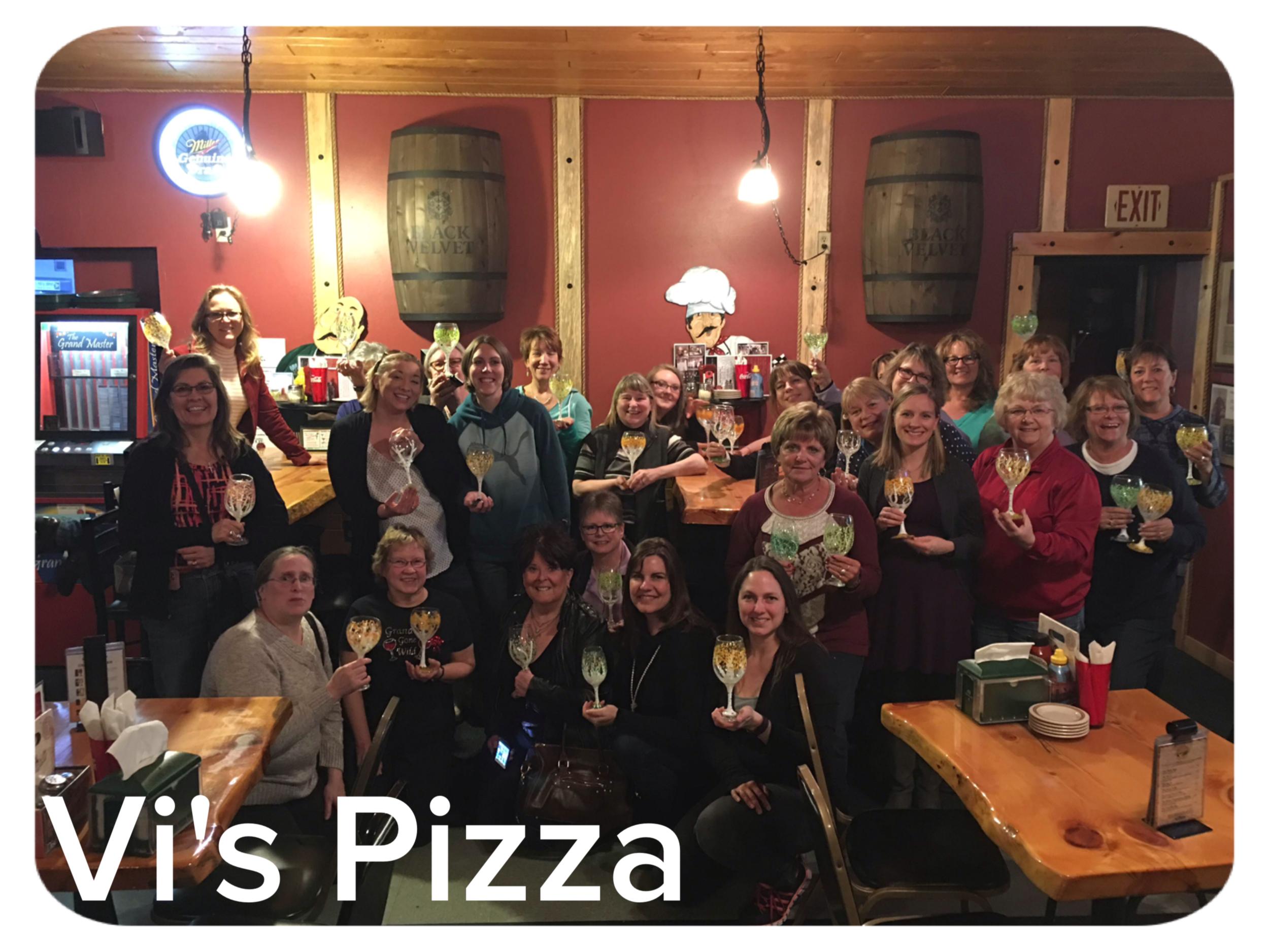 Vi's Pizza-Wine Glasses