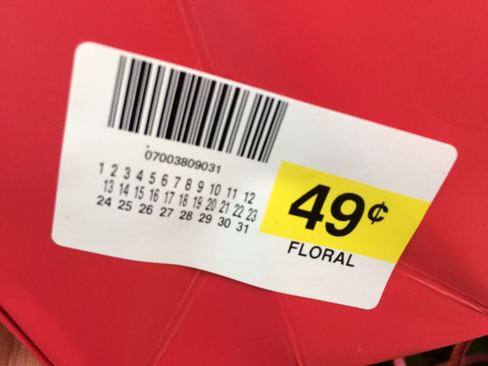 Now this is what I call a great sale, and to have it attached to a flowering plant, even better.