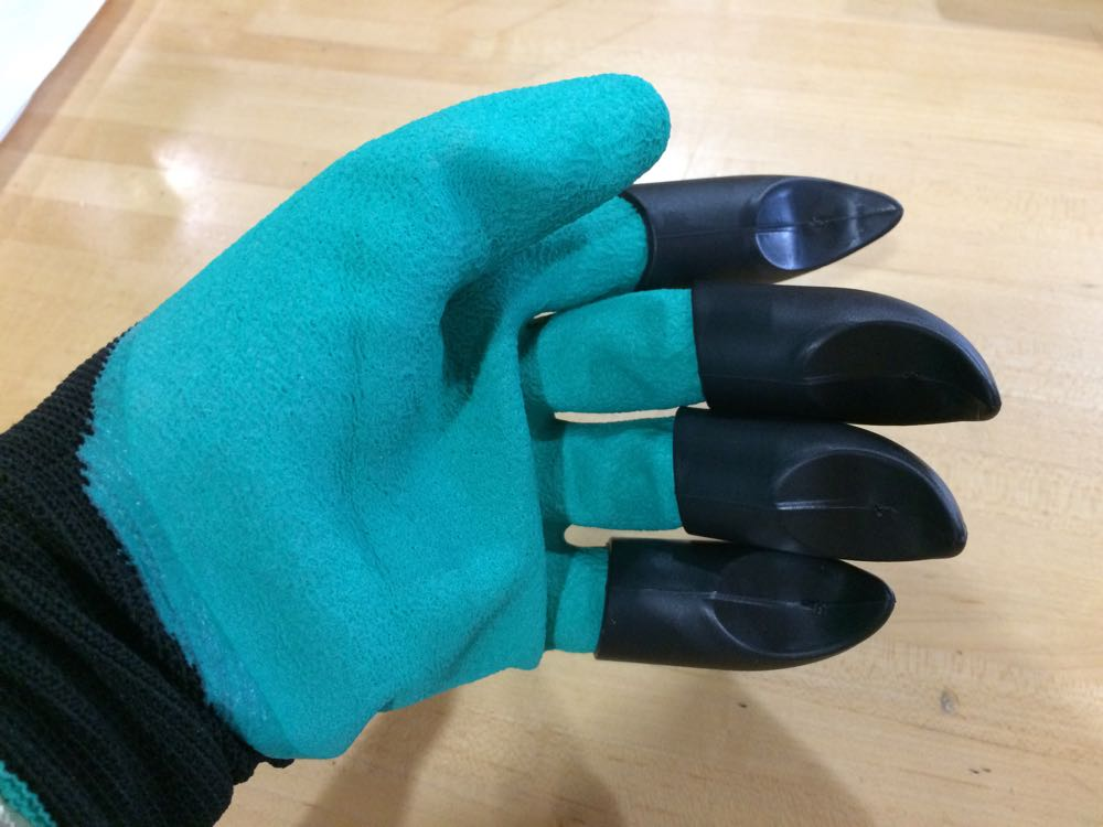 Have you seen these gardening gloves with claws on the fingertips?