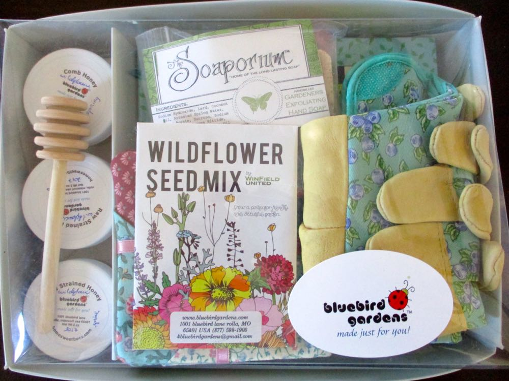 This is one of our custom gardener gift sets, ready to ship for Valentine's Day.