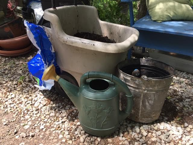 Basic planting supplies should include a watering can. (Photo by Charlotte Ekker Wiggins)