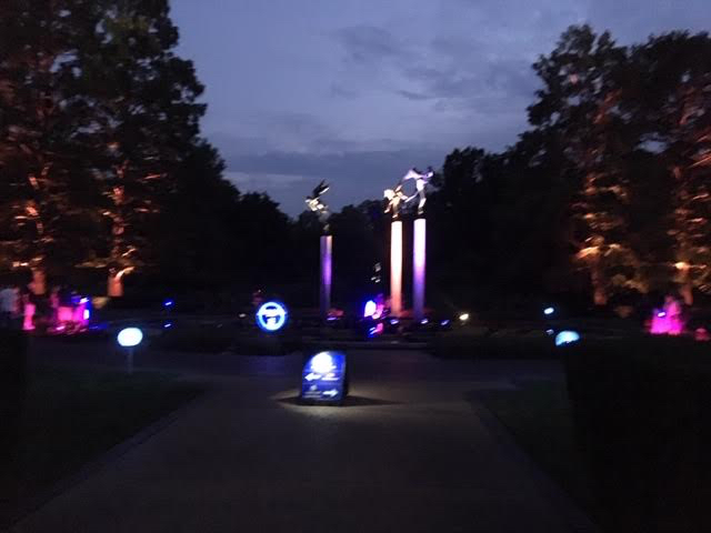Missouri Botanical Garden's Garden Glow changes the garden look. (Photo by Charlotte Ekker Wiggins)