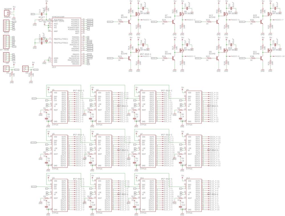 8x8x8 RGB LED Cube — JacoBurge Electronics