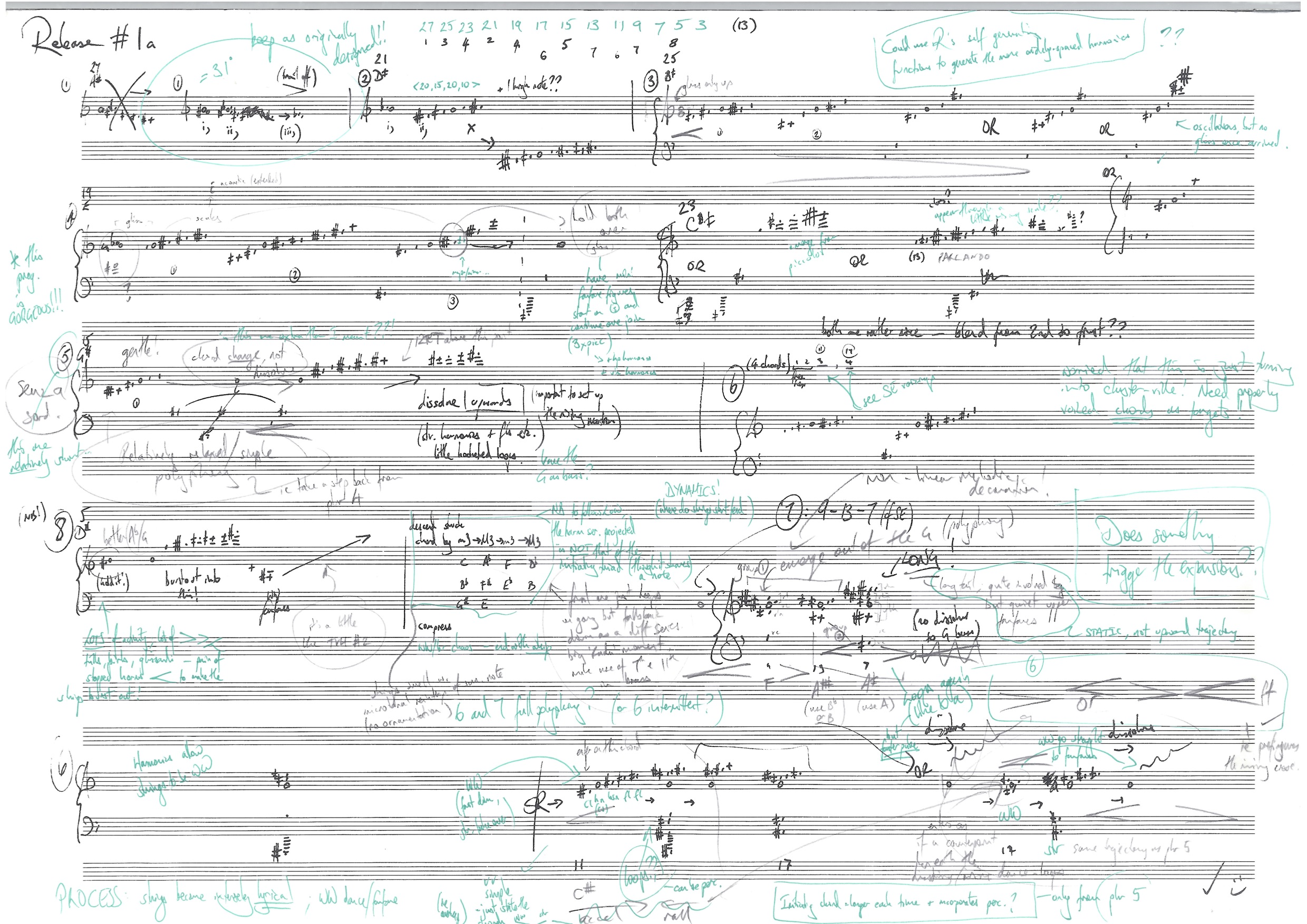 Sketch for the opening of a big orchestral piece