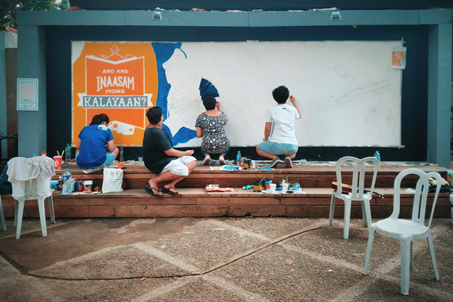 Parfest mural in progress