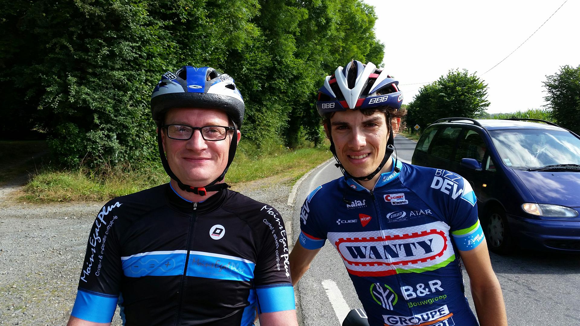 Eric Lemasson et Guillaume Martin, Entrainement entre le tour d'Autriche et le tour de Grande Bretagne