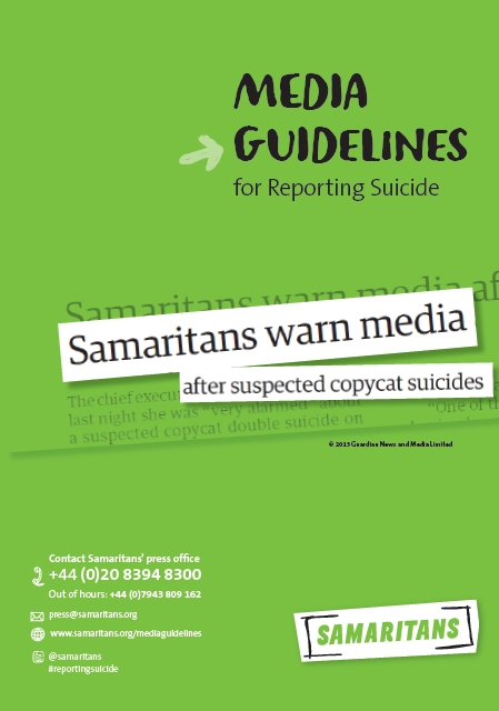 Samaritans Media Guidelines for Reporting Suicide