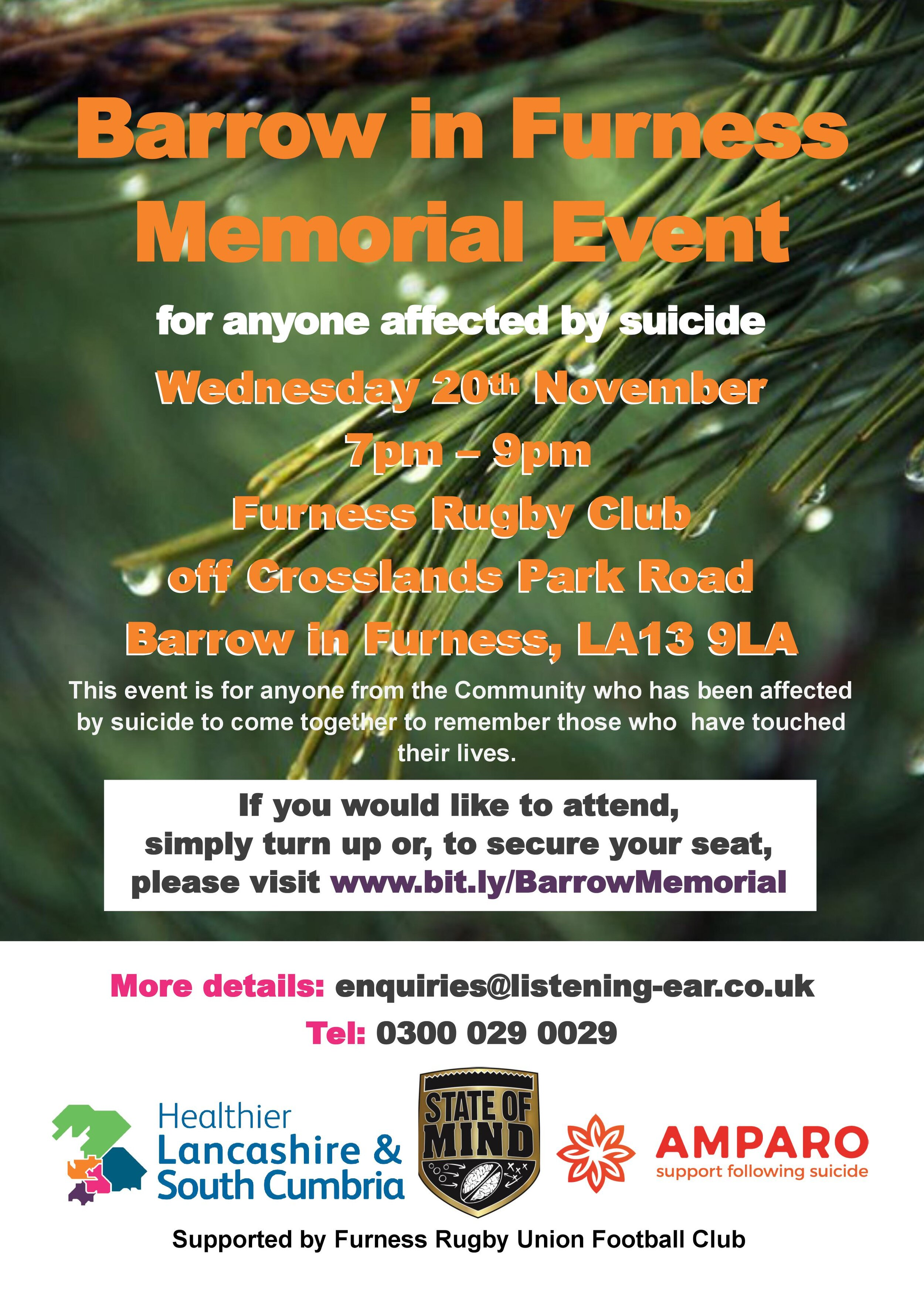 Furness Memorial 20 November 2019