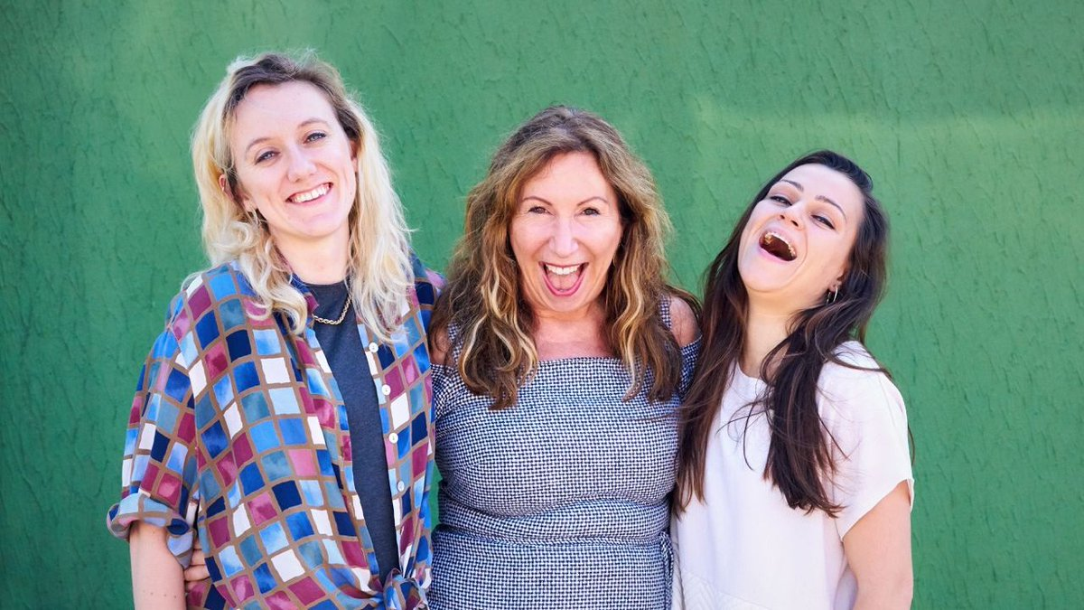 Hildegard Ryan (left) with Kay Mellor (executive producer) and Eva O'Connor (co-writer).