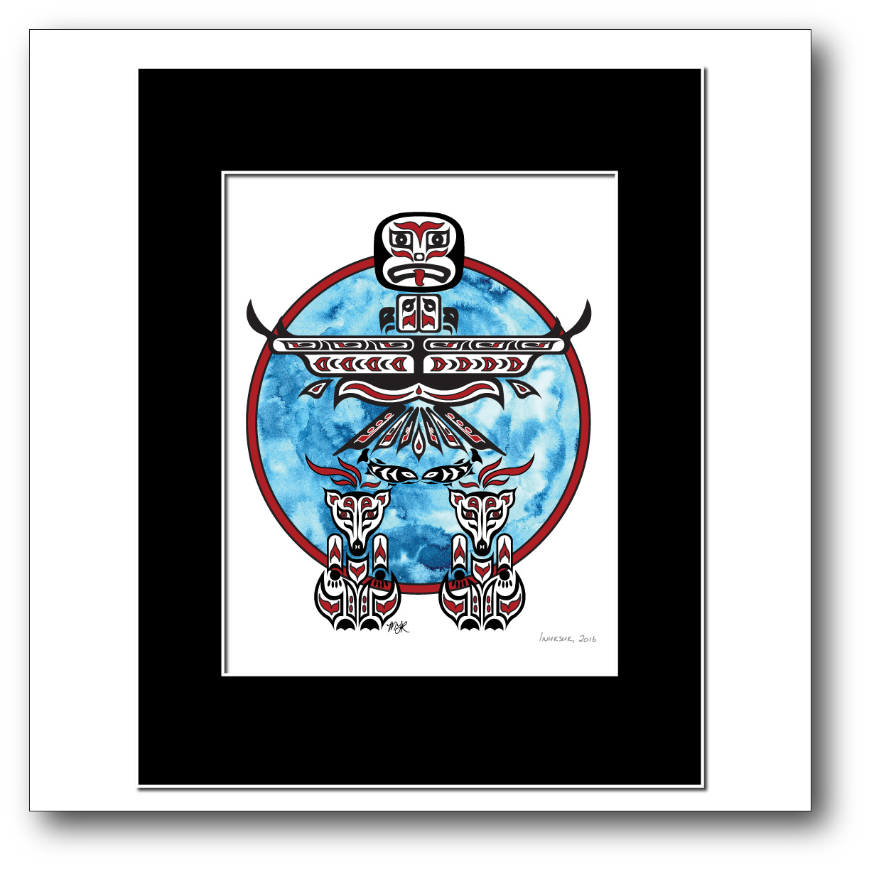 """Inuksuk"" Available in Red/Blue Only"