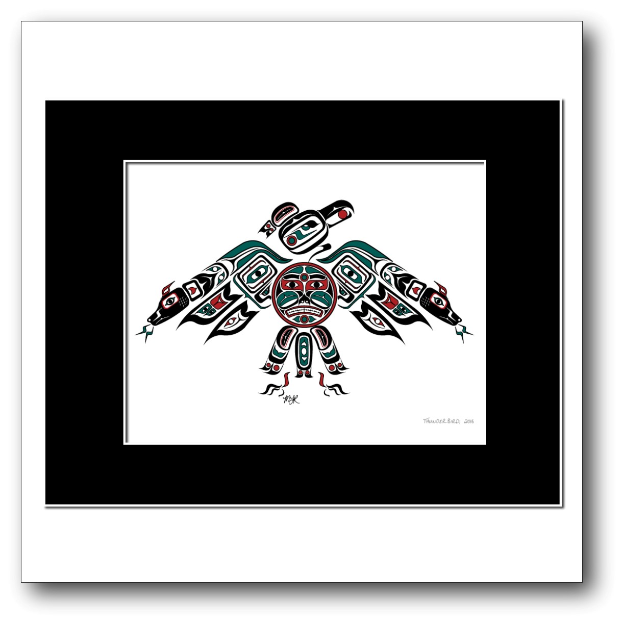 """""""Thunderbird"""" Available in Teal/Red only."""
