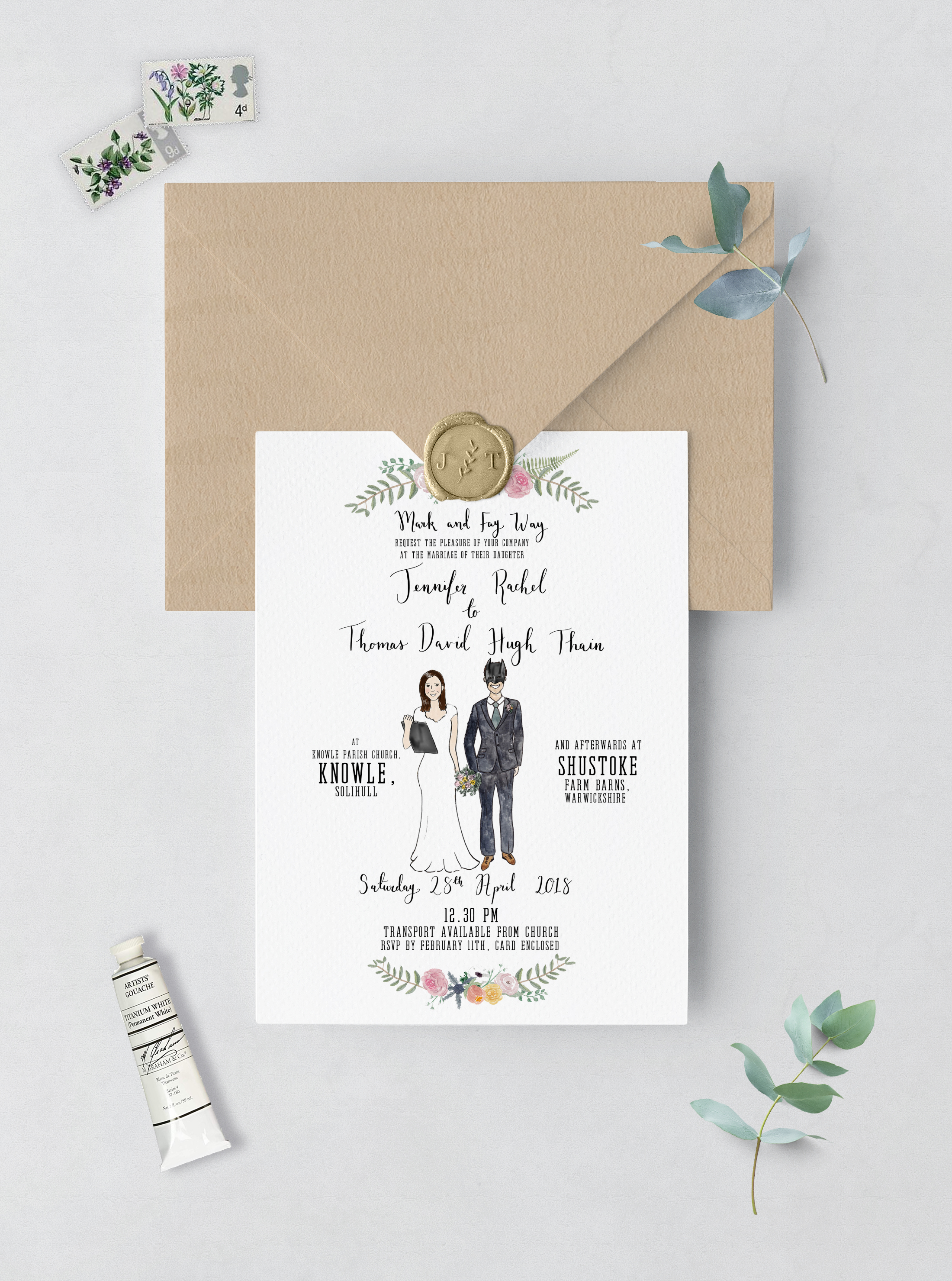 Invitation Card and Envelope jenni.jpg