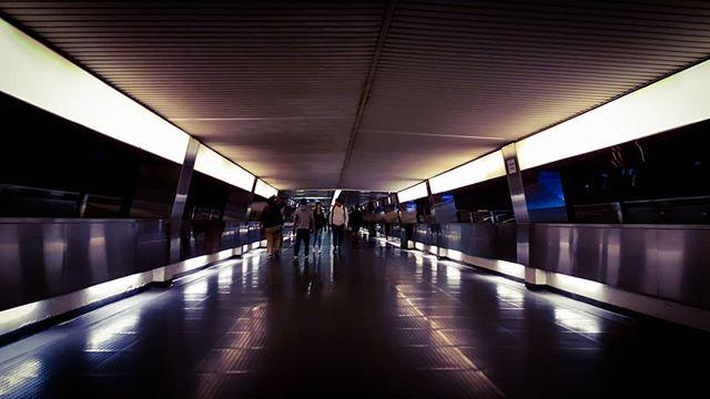 stanley kubrick moment  #jesperjustesen #hongkong #walkway #pictureoftheday #night #monochromatic #work #fun