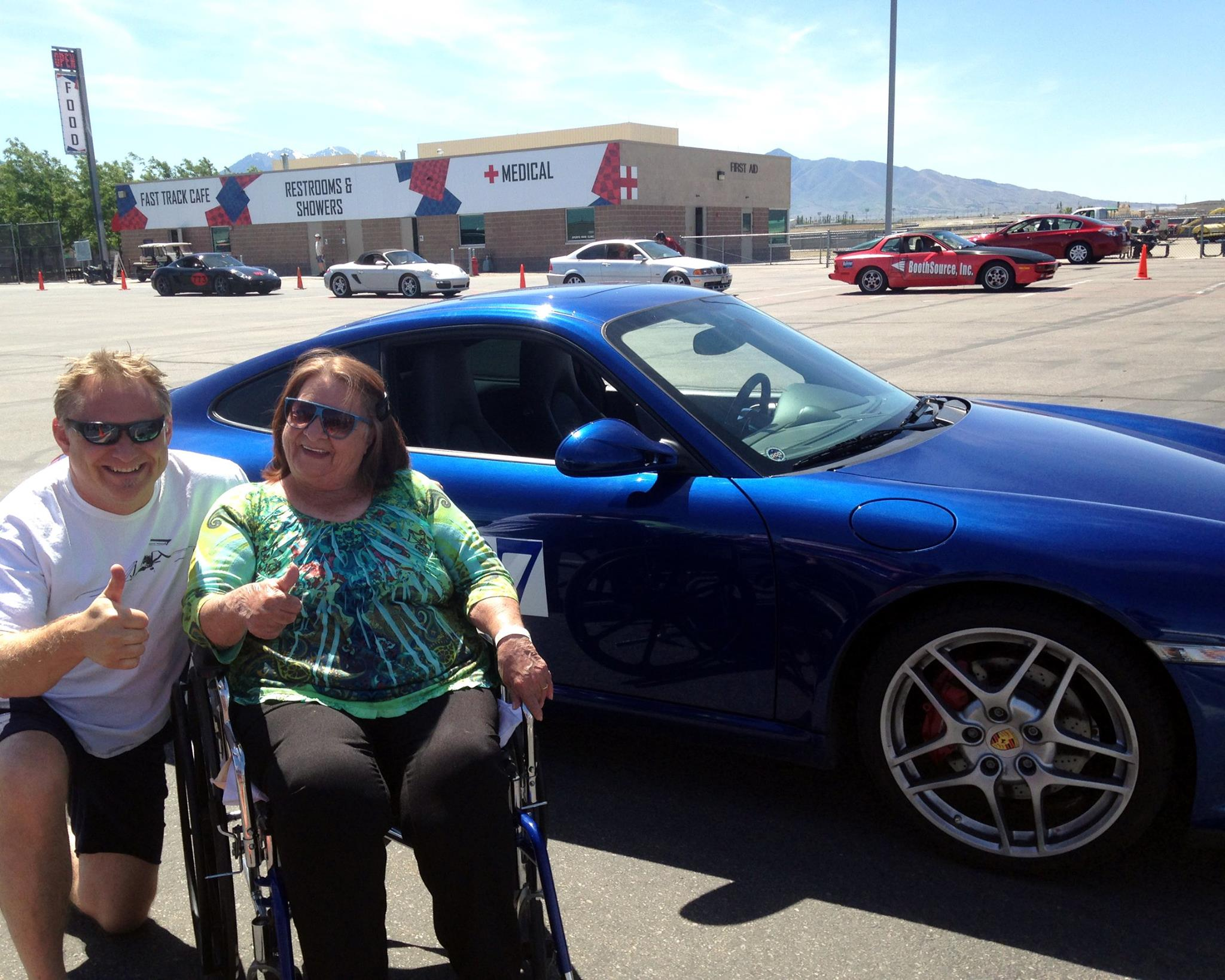 Blue Porsche Ride