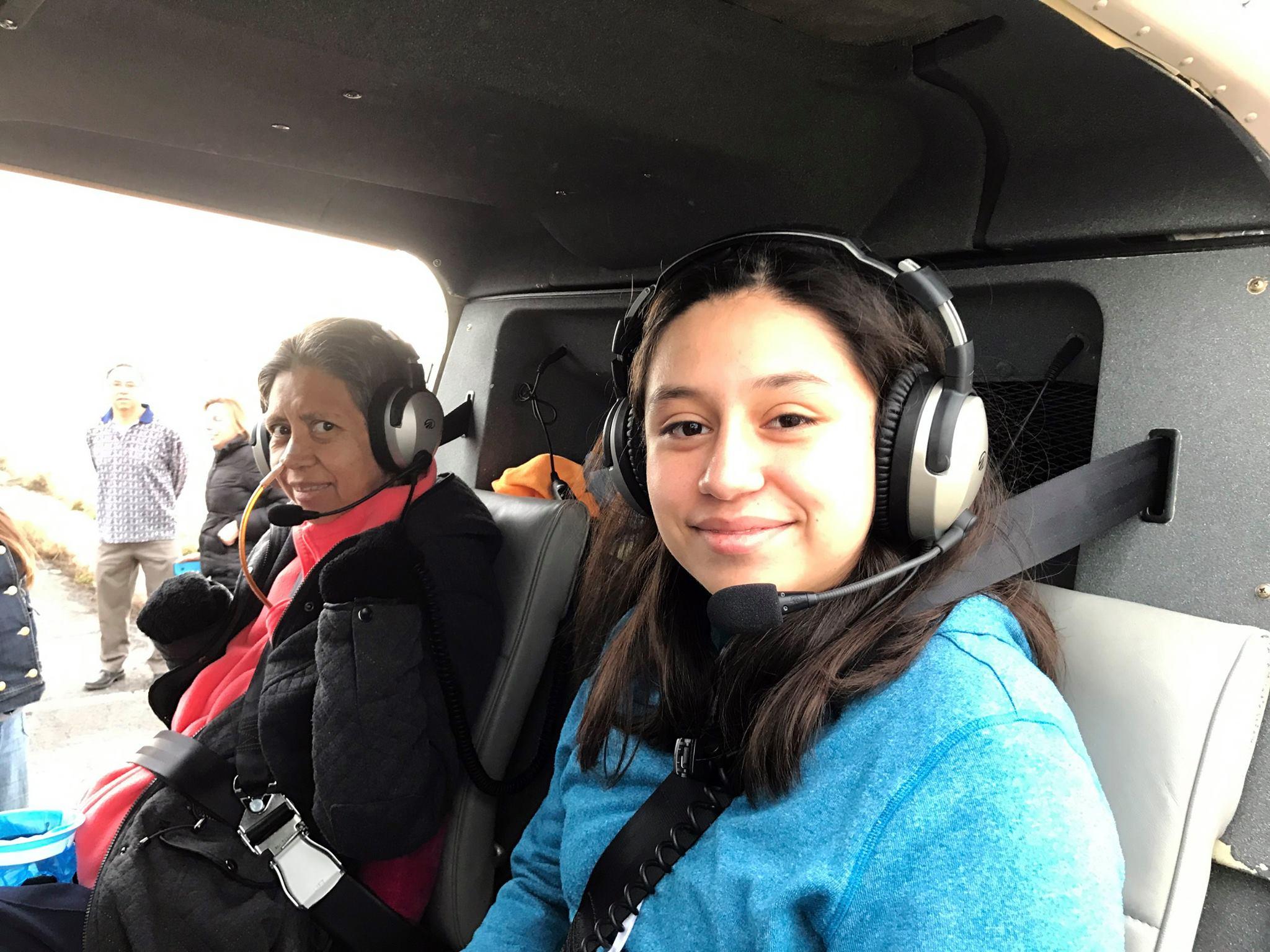 Selene's Helicopter Ride