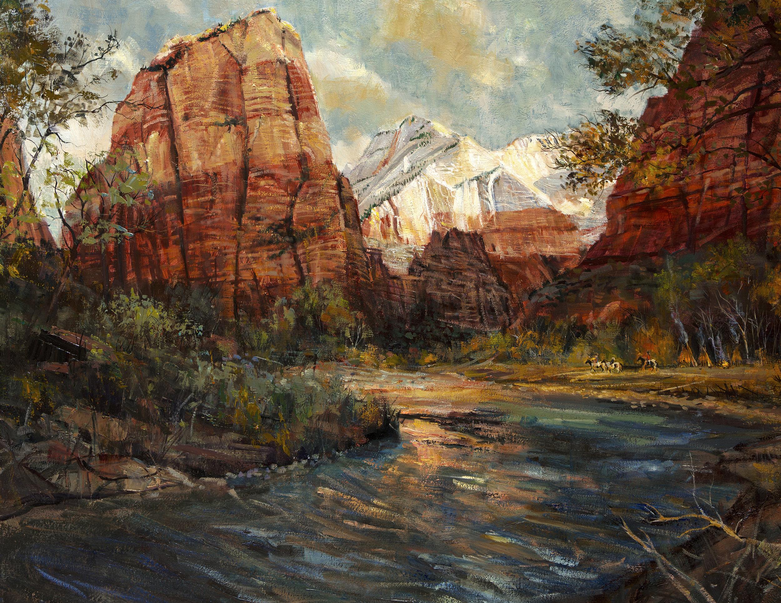 Larry Winborg - Virgin River Zion oil Winborg Larry.jpg