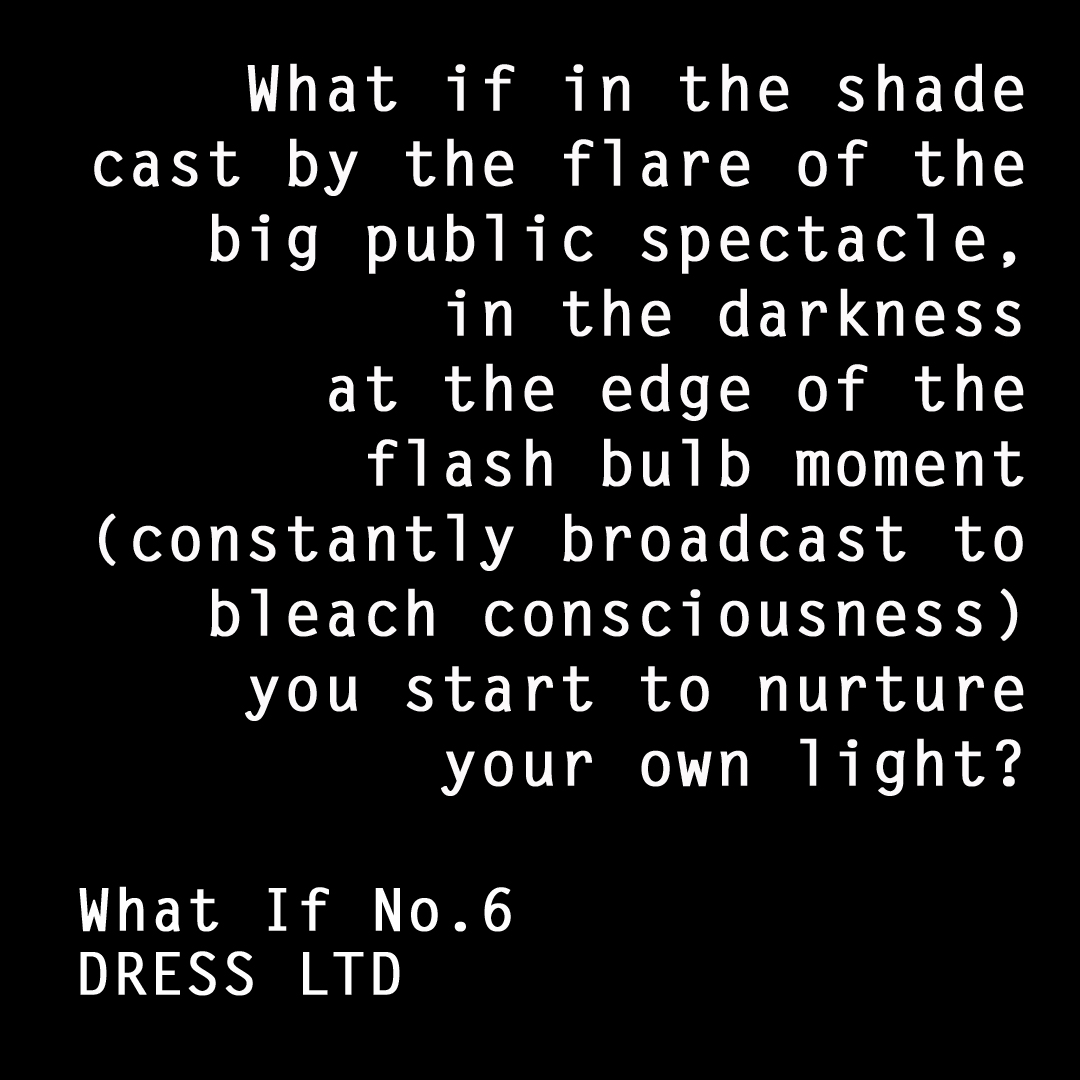 DRESS ltd WHAT IF Black Dress Museum manifesto