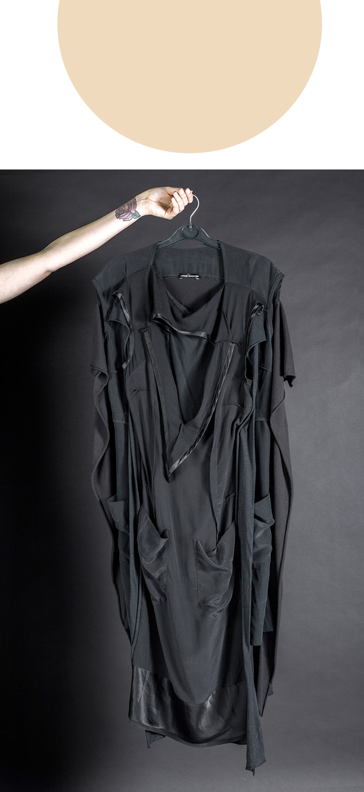 DRESS ltd BLACK DRESS MUSEUM Flat pack Double Deconstruction Dress