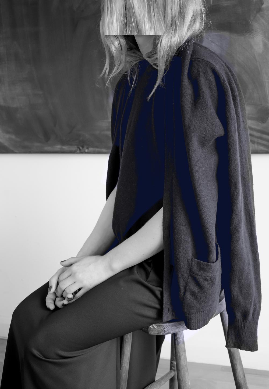 DRESS label Crisis Collection 2017 Look book Navy Blue Reconfigured Knitwear Inbuilt TwinsetDress-Ltd